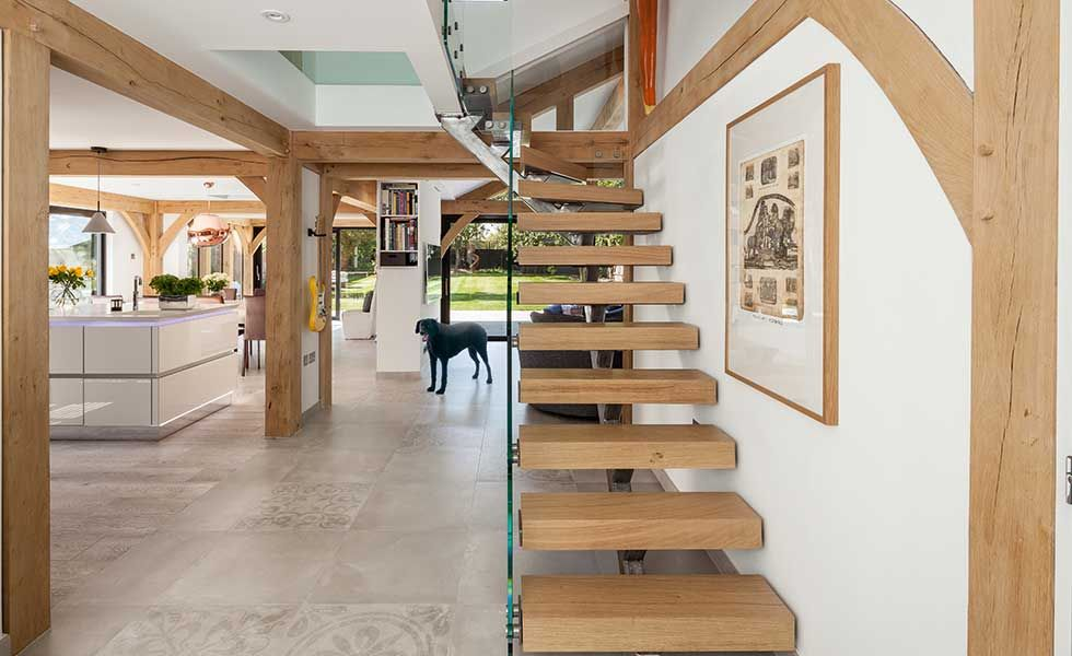 Best Contemporary Oak Frame Self Build Clad In Timber Oak 400 x 300