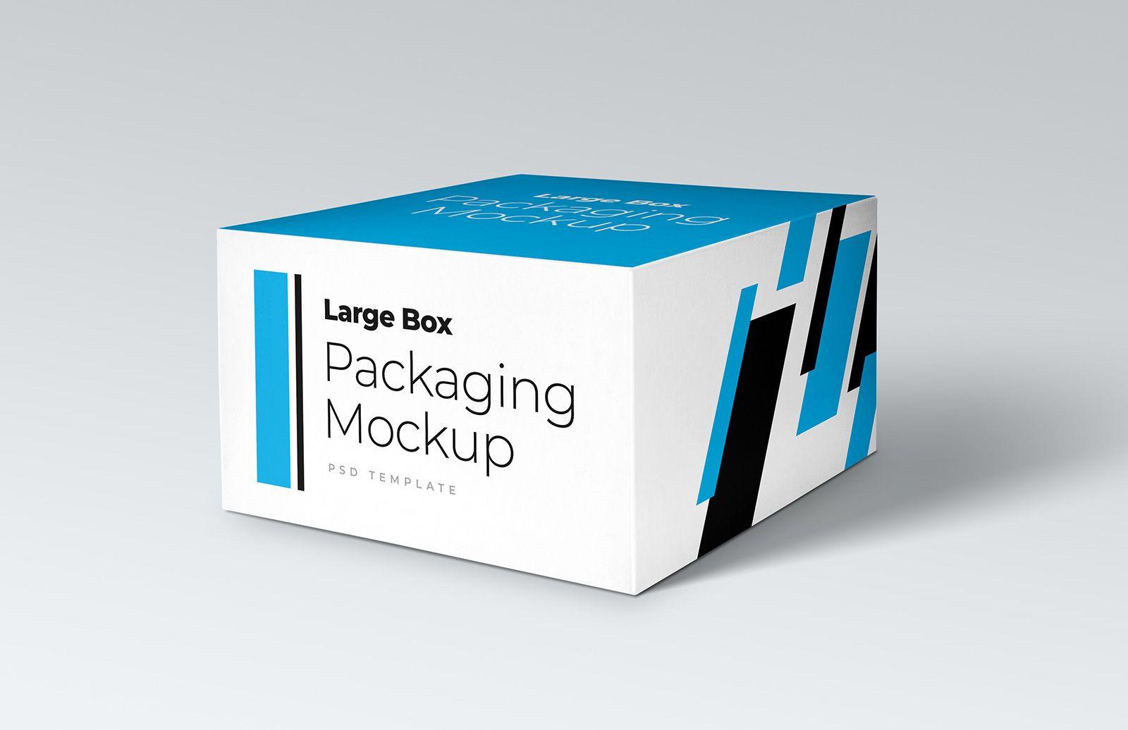 Download Free Large Box Packaging Mockup Packaging Mockup Box Packaging Custom Packaging Boxes