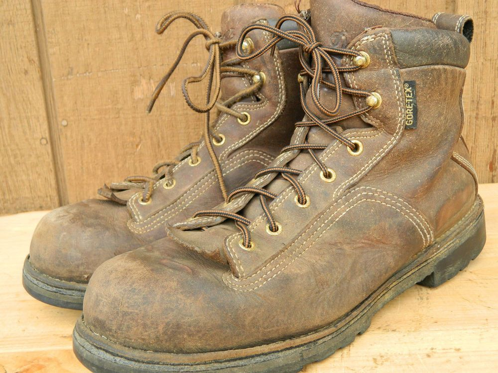 1990's Brown Leather Boots By Danner Men's Size 10 Used-Good Cond ...