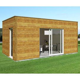 abri de jardin pool house en bois nano home studio. Black Bedroom Furniture Sets. Home Design Ideas
