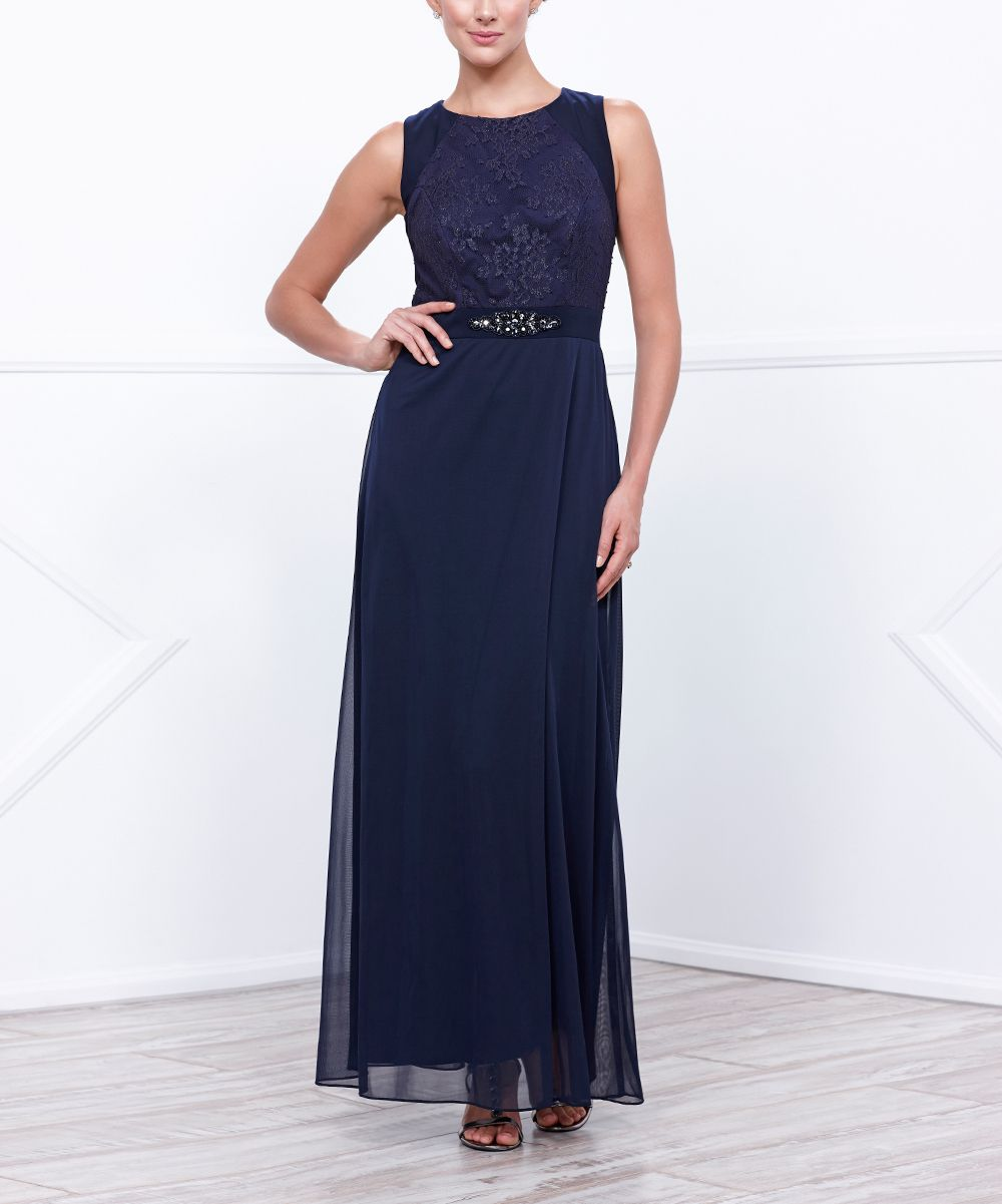 Navy embellishedaccent maxi dress products