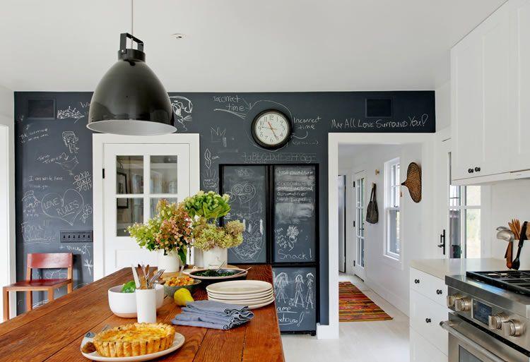 Parete Di Lavagna In Cucina : Parete lavagna in cucina cucina in stile di anna leone architetto
