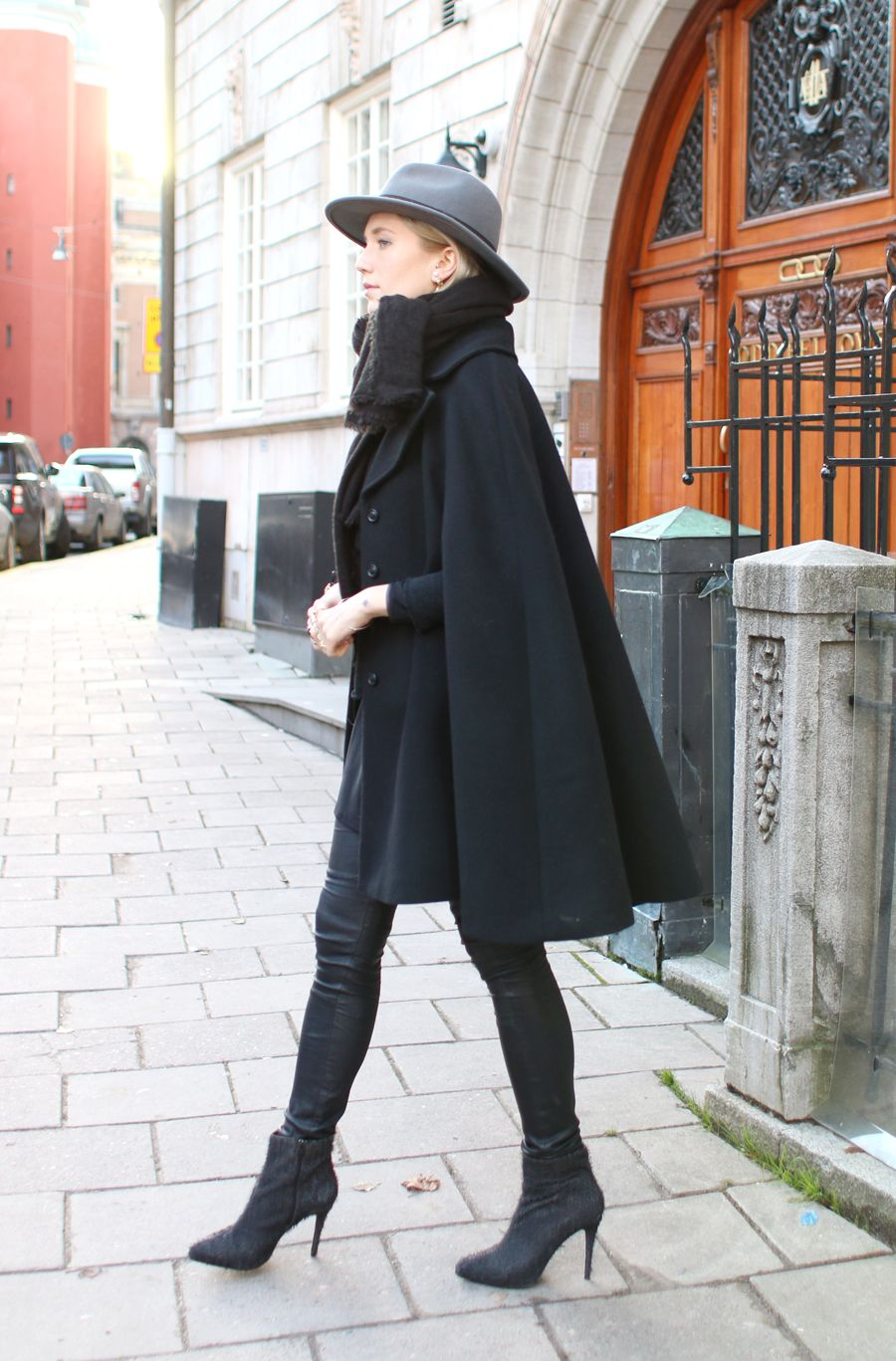 the cape trend is here this is how you style it | black cape