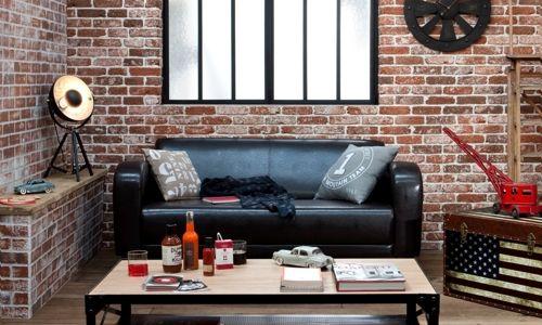 exemple déco esprit loft new yorkais | Living rooms, Room and Decoration