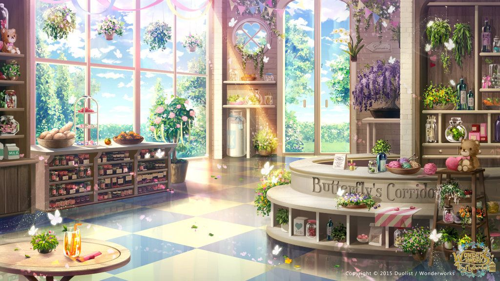 Butterfly's Corridor Anime places, Anime scenery, Anime