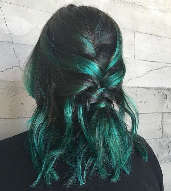 green-hair-color-ideas-24-1 30 Green Hair Color Ideas - Green hair in our day has ceased…