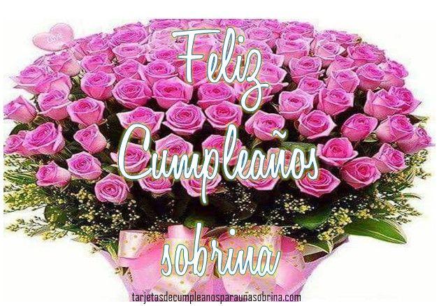 rosas de cumpleaños para una sobrina Tarjetas de cumpleaños Sobrina Pinterest