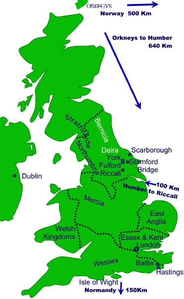 Map Of England Showing Hastings Norman Norman Anglo Saxon Normandy