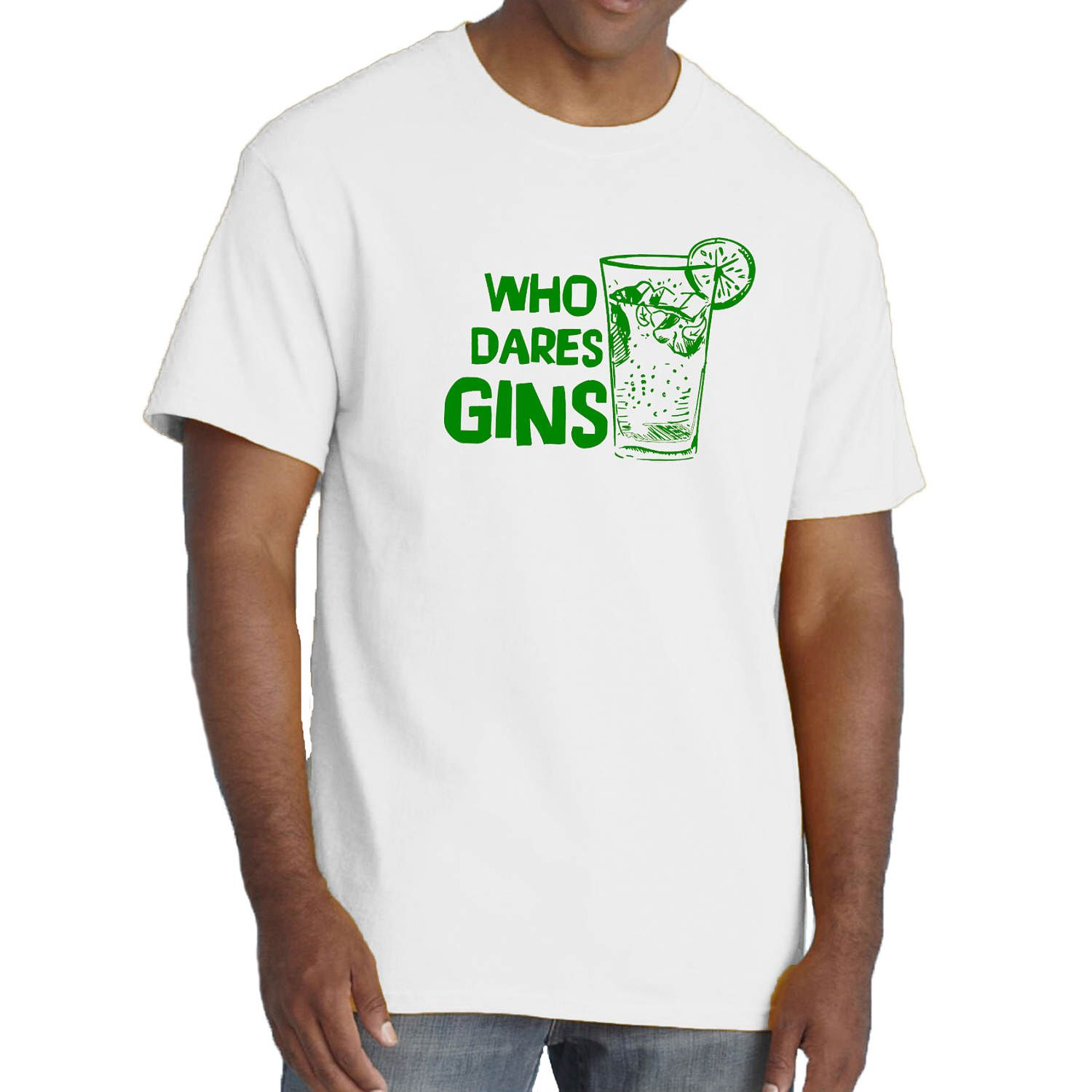 Mr Jolly Lives Next Door T-shirt Rik Mayall GET SOME GIN tee by Sillytees