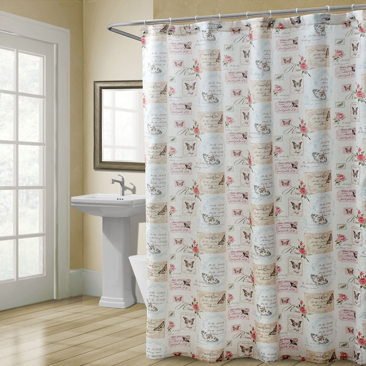 Capture The Majestic Beauty Of Nature With The Butterfly Moments Shower  Curtain. This Polyester Accessory, From Chapel Hill By Croscill, Has A  Design.