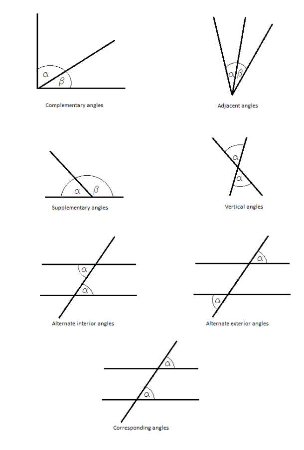 relationships between angles | Angles worksheet, Math ...