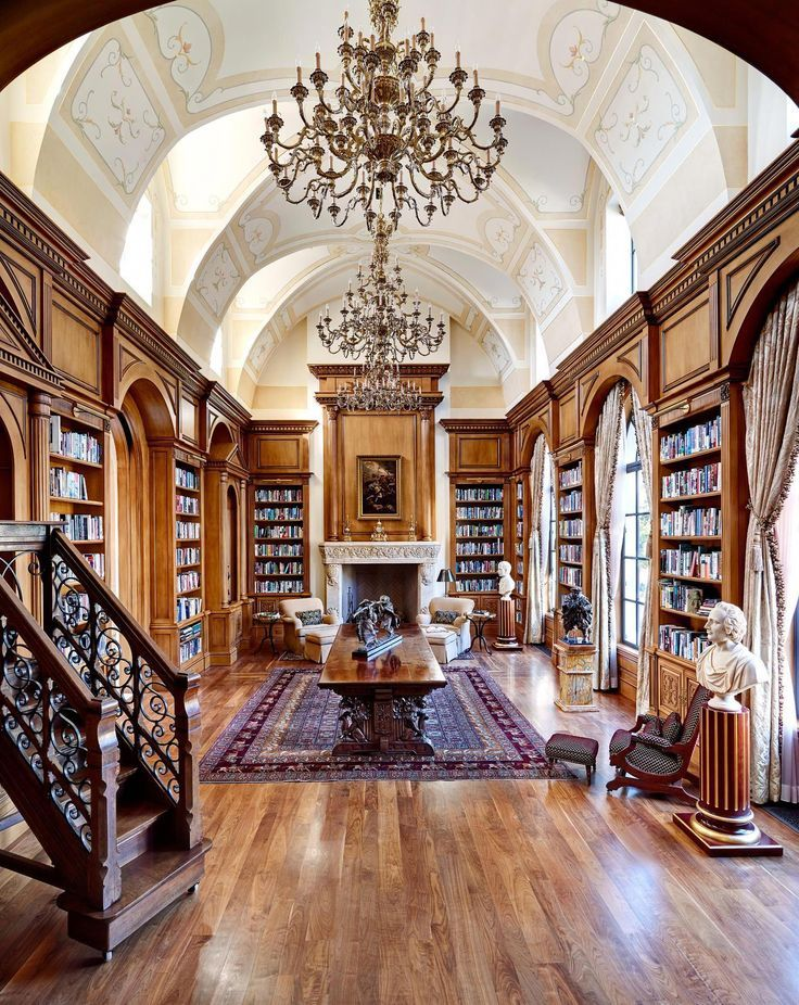 Cool Home Library Ideas: Luxury House Designs (luxhousedesign) Instagram Posts