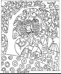 Owls Patterns Printables Downloads Boyama Sayfalari