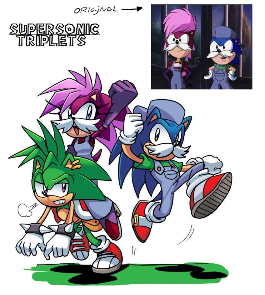 Super Sonic Triplets by Drawloverlala on deviantART poor Manic...