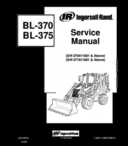 Bobcat bl370 bl375 backhoe loader service repair manual