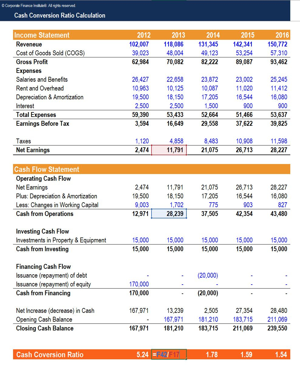 how to calculate operating cash flow from income statement