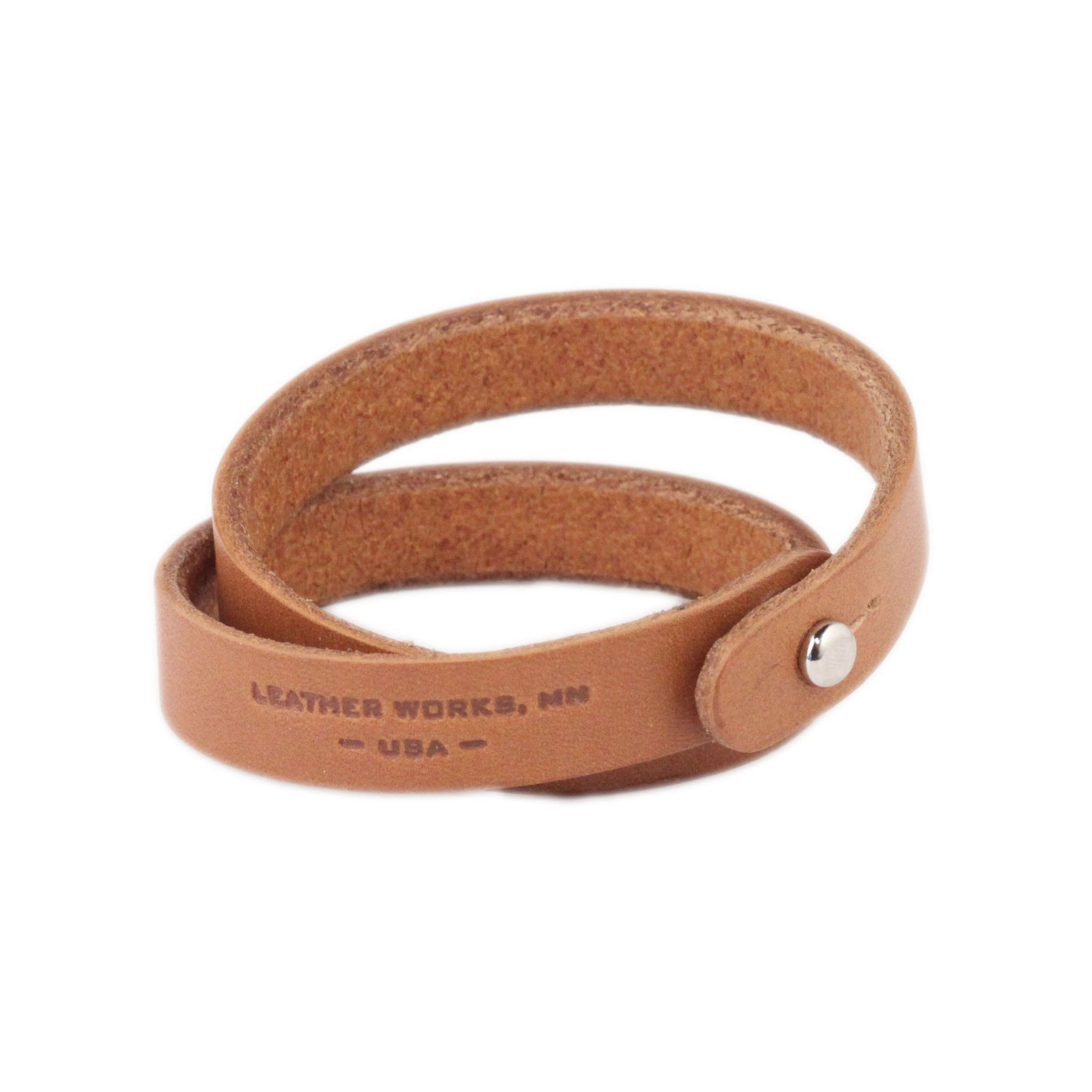Leather Works // Bracelet - Double, Tan from Hudson Supply Co.