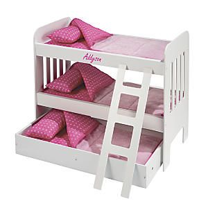Doll Bunk Bed With Trundle Osa Exclusive What S More Fun Than Doll