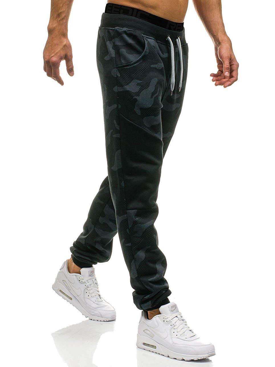 Men's Slim Fit Camo Jogger Sweatpant Cotton Tapered Gym