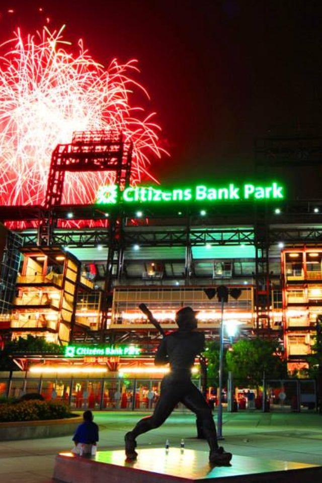 Phillies Fireworks Phillies Philadelphia Sports Philadelphia Phillies