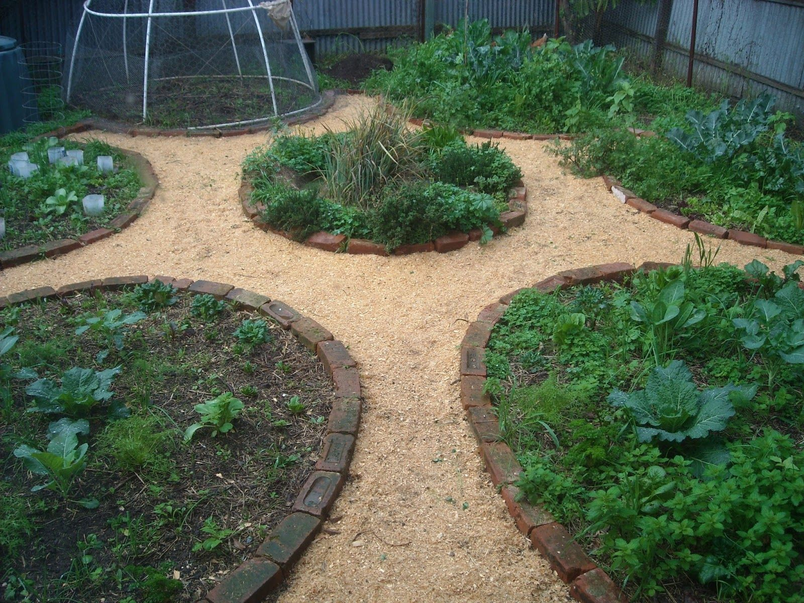 permaculture mandala garden design great use of space