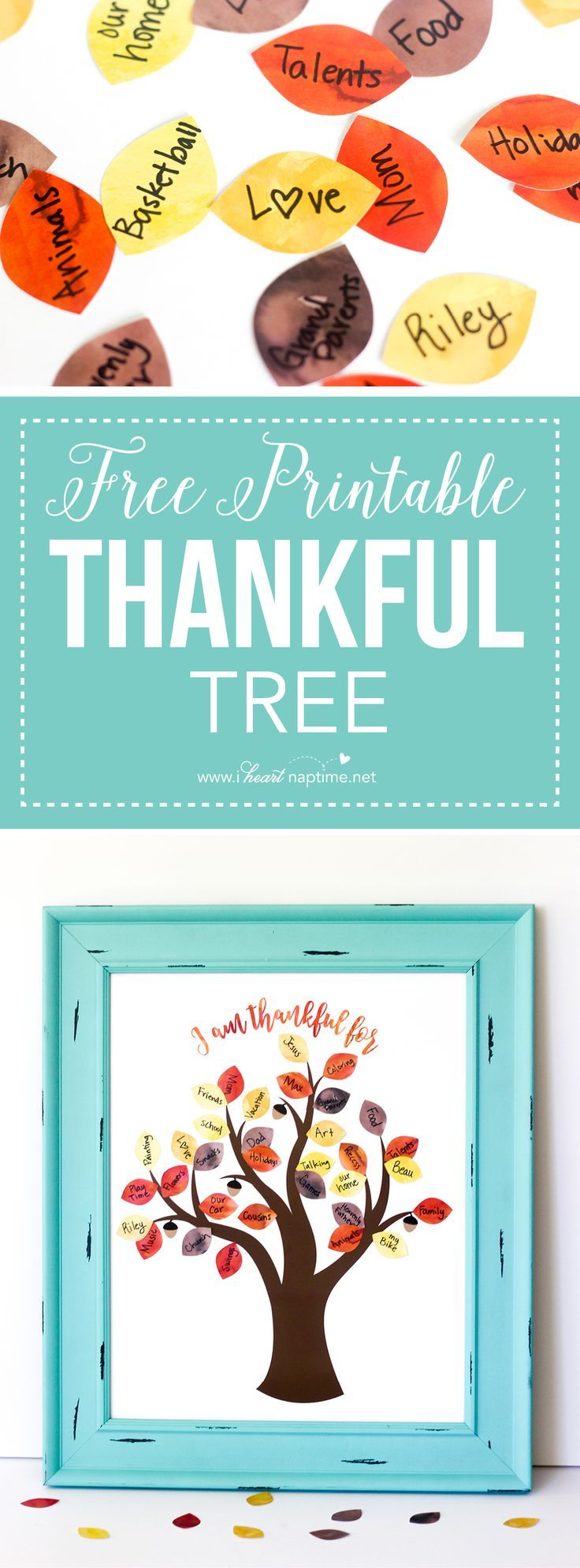 FREE Thanksgiving Printable Thankful Tree | i ♥ home sweet home ...