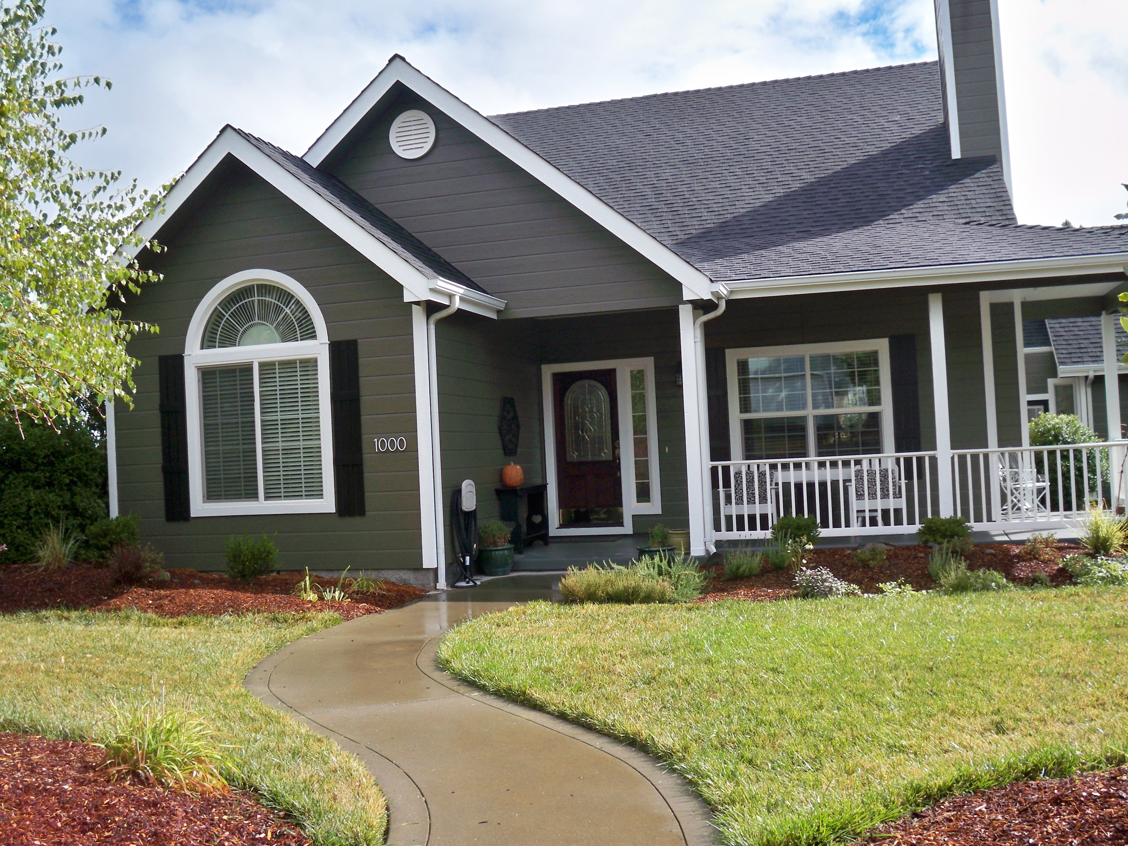New exterior paint color falcon 39 s plume by valspar - Sherwin williams exterior colors ...