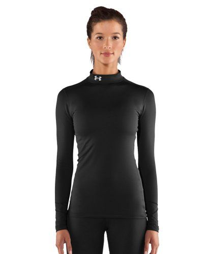 bb72a69602 Under Armour Women's ColdGear Authentic Comp Mock Tee, Black, Large --  Click image to review more details.