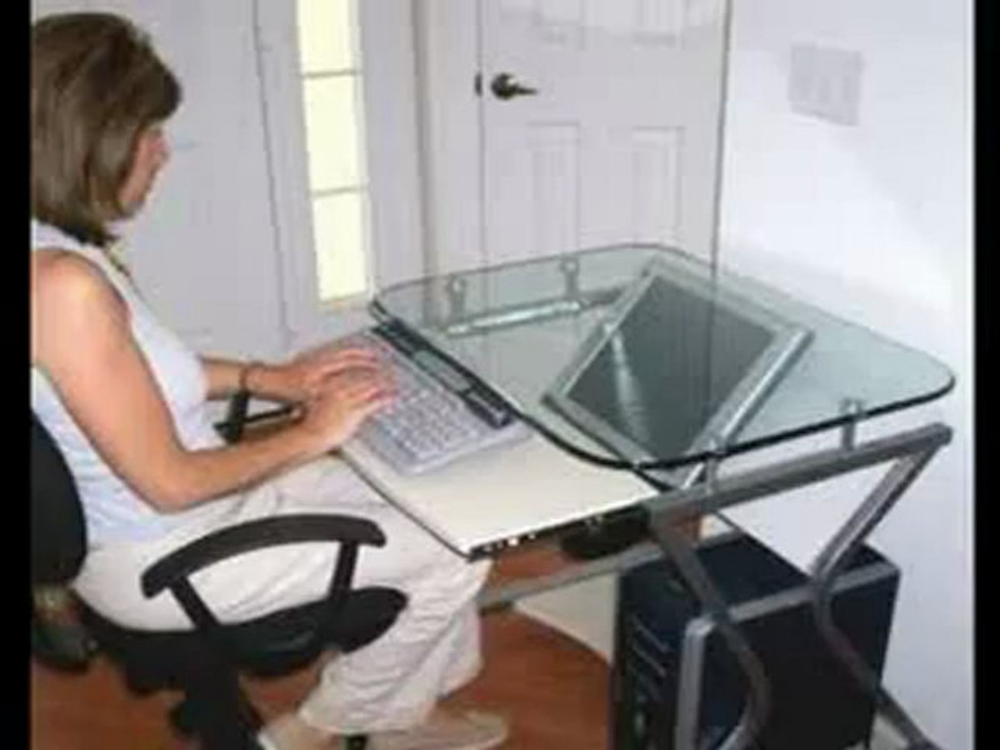 12 Downview Desk Ideas Computer, Downview Recessed Monitor Computer Desks