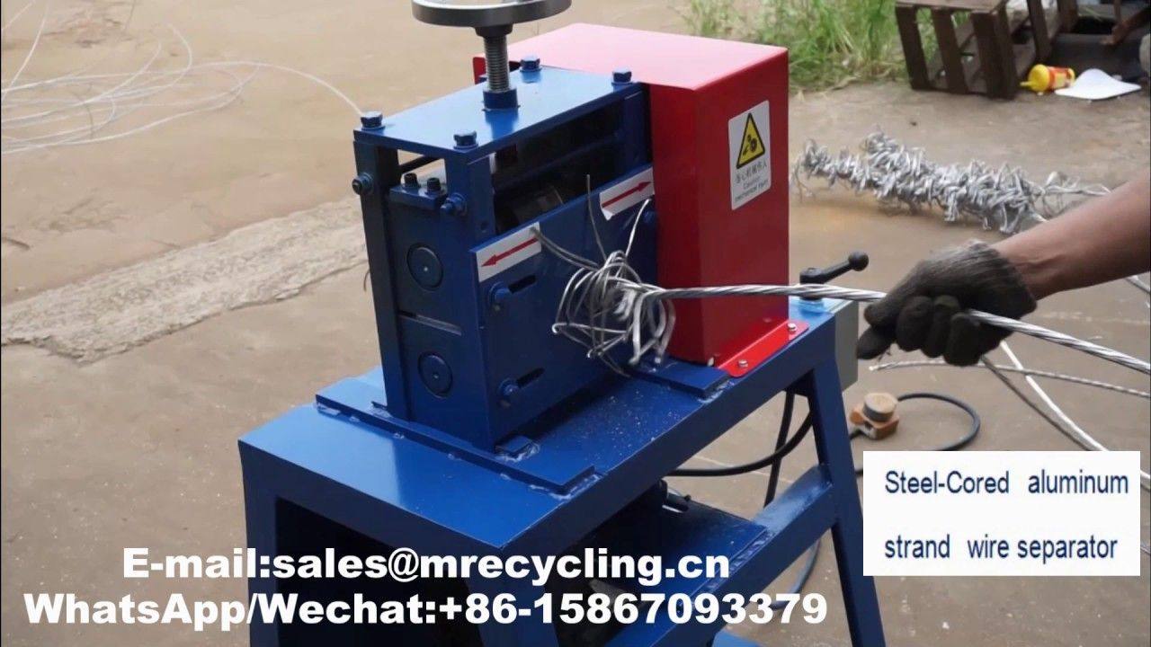 Manual Wire Stripping Machine Cable Stripper Scrap Metal Recycle Tool φ1-20mm US