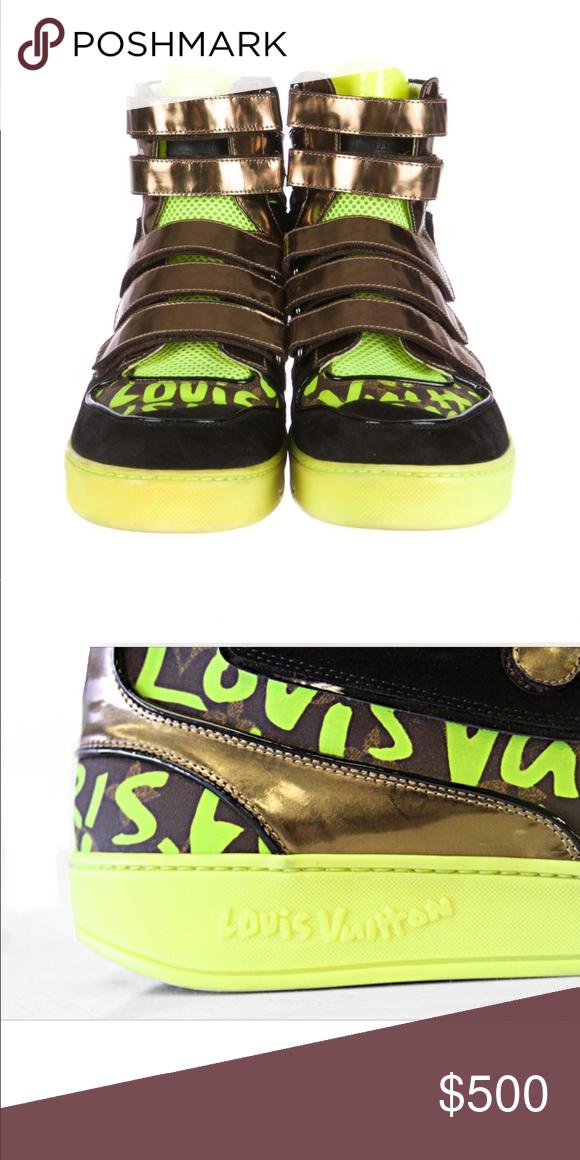 louis vuitton neon sneakers