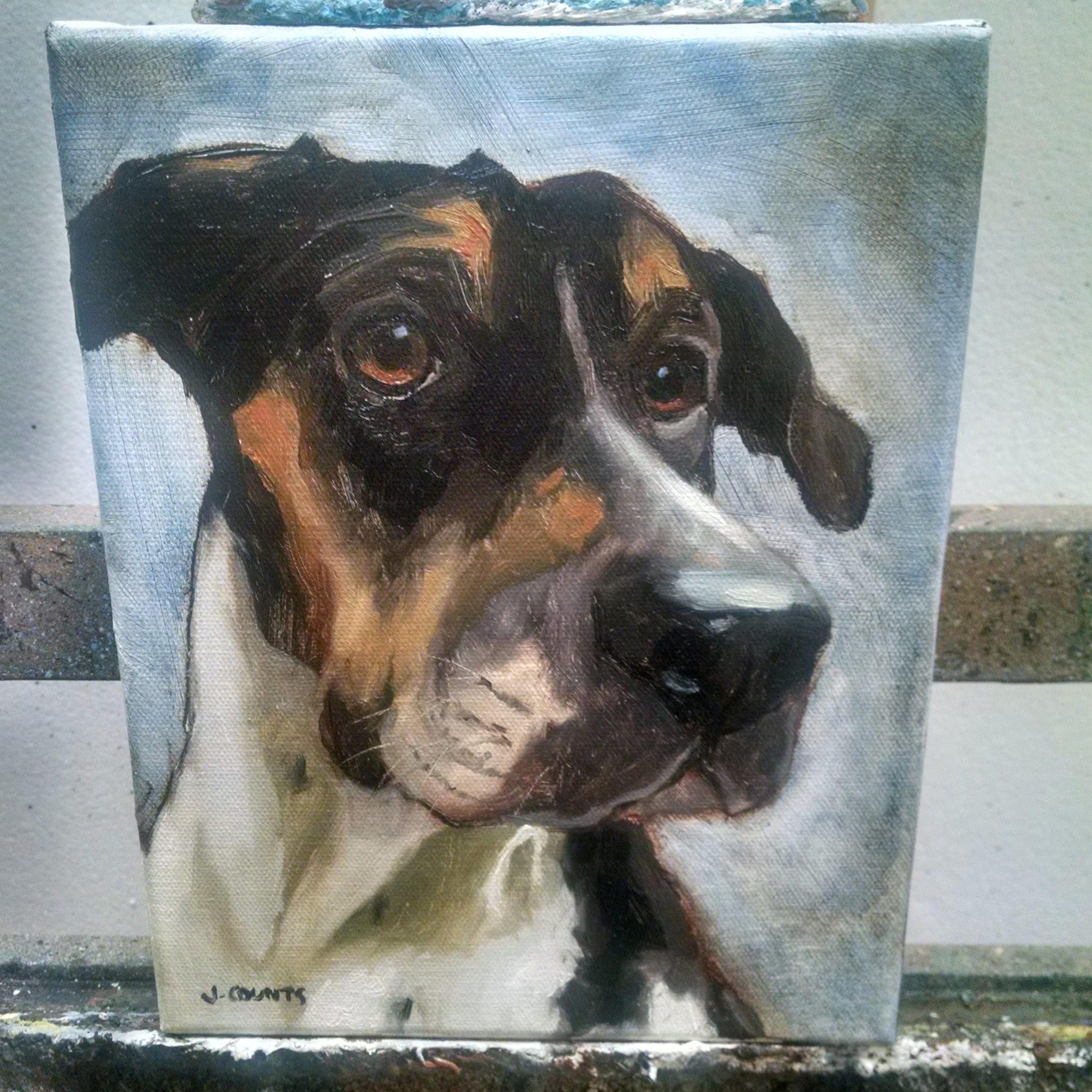 Custom Pet Portrait Oil Painting Animal Art Dog Portrait 10x10 Custom Paintings