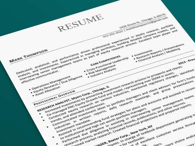 Professional Resume and Cover Letter, or LinkedIn National Area - groupon resume