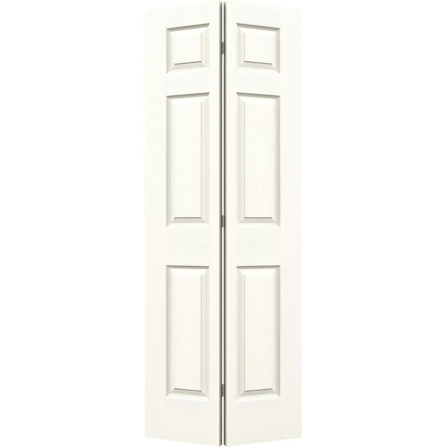 Jeld Wen Colonist White 6 Panel Molded Composite Bifold Door Hardware Included Common 30 In X 80 In Actual 30 In X 7 In 2020 Bifold Door Hardware Panel Moulding Tall Cabinet Storage