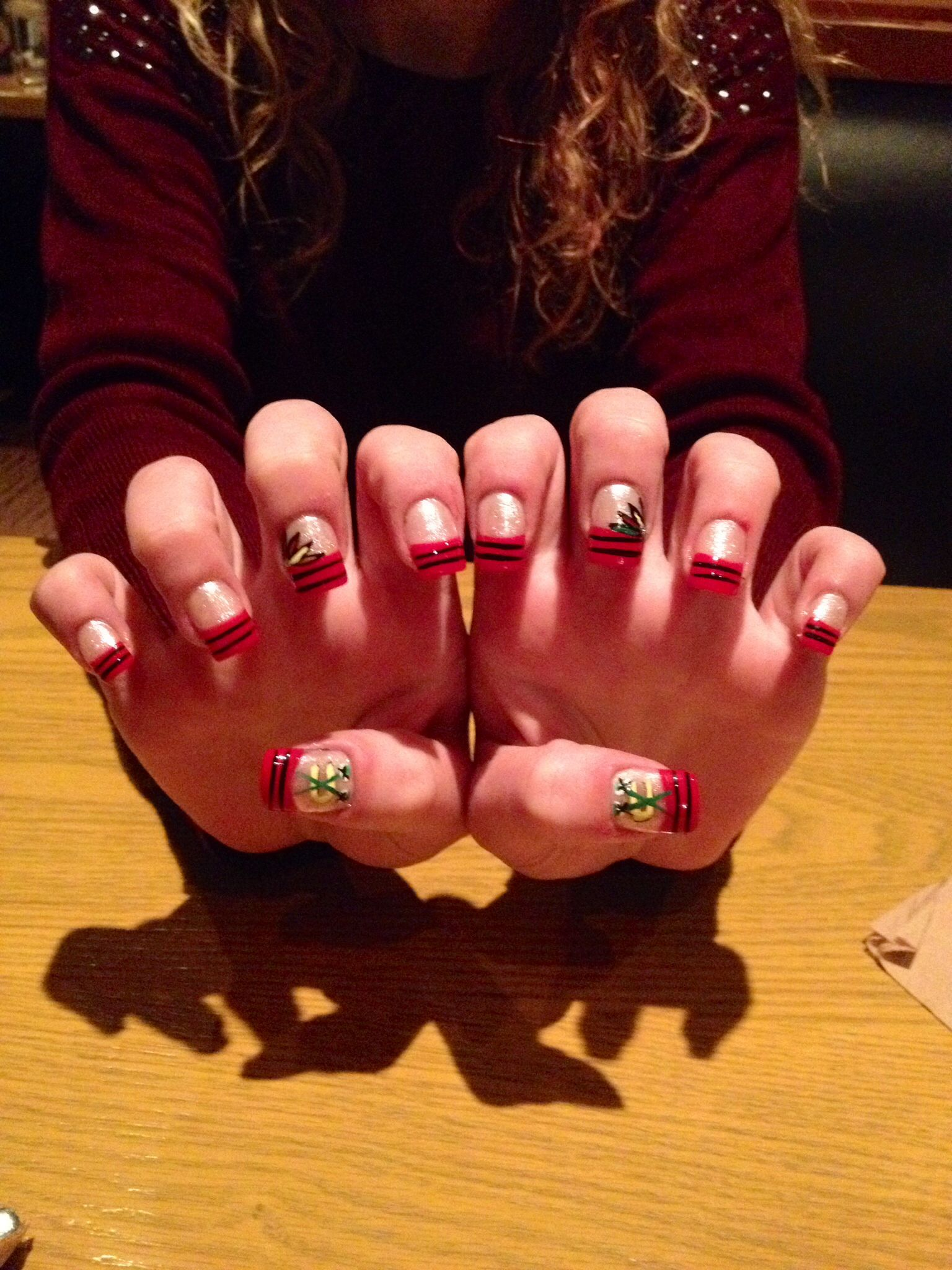 Chicago Blackhawks Nails Done At Modern In Palatine Il