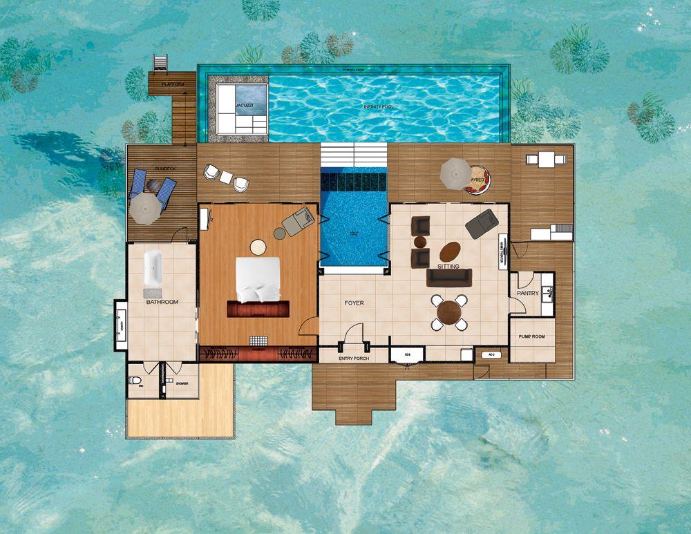 Overwater Bungalow Maldives Water Pavilion By Per Aquum Niyama Home Floorplans Commercial