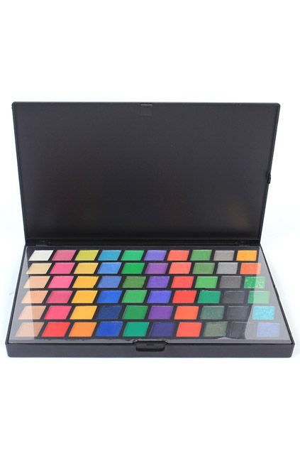 ROMWE | Multi-colored Matte and Shimmer Makeup Eye Shadow Plate, The Latest Street Fashion #ROMWE