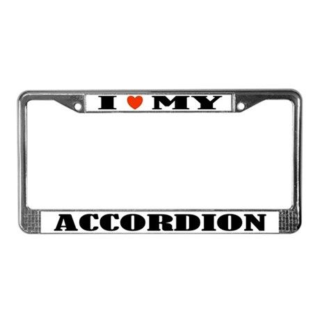 I Love My Accordion License Plate Frame | License plate frames and ...