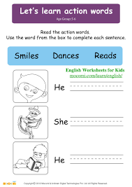 He She And It Worksheets For Kindergarten