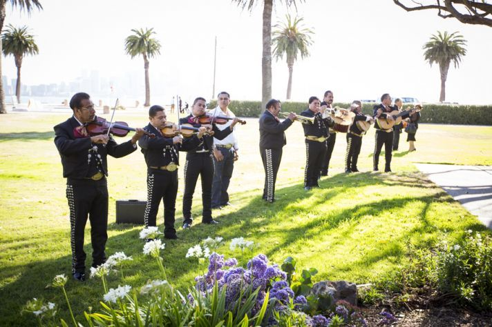 Mariachi band at a real Mexican wedding