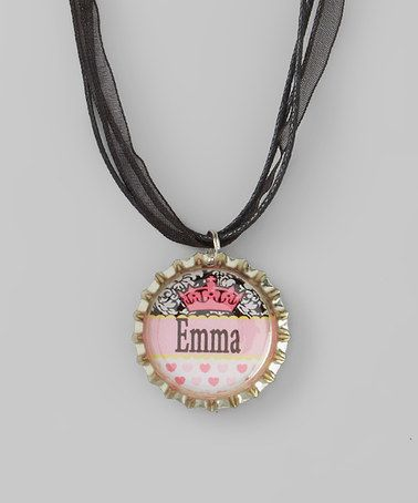 Another great find on #zulily! Hot Pink Crown Personalized Necklace by Bow Clippeez 2 Envy #zulilyfinds