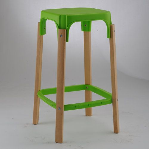 new plastic seat wood legs high club chair bar stool counter