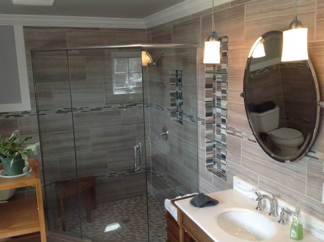 Mosaic Tile Accents And Recessed Niches Total Renovation In Sunset Hills By More For Less Remodeling Of St