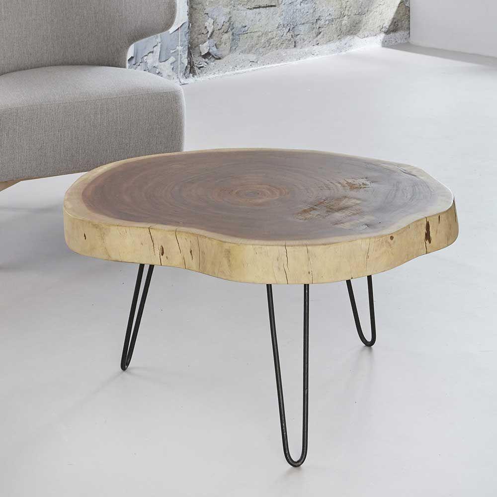 Tisch mit Baumscheibe Akazie Massivholz Jetzt bestellen unter: https ...