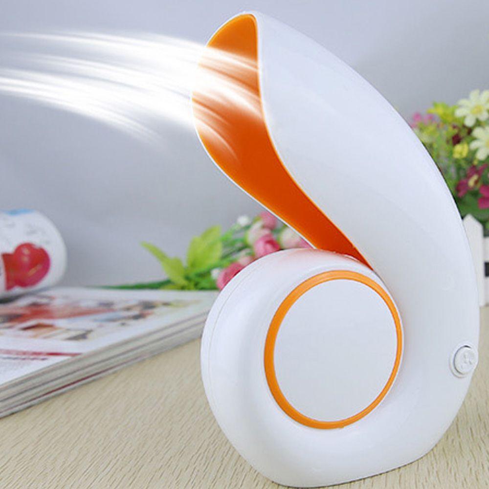 Hot USB Office Portable Handheld Mini Air Conditioner Bladeless Fan Desktop  Shell No Leaf Air Fan