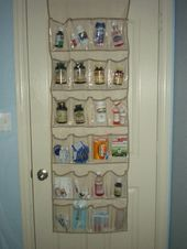 I hate digging for medication. I used a shoe organizer to organize our medicine #organizemedicinecabinets