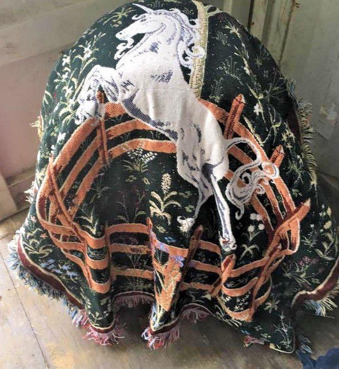 Unicorn tapestry Blanket w/ Fringe  #AnimalPrint