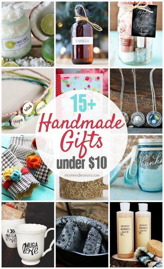 15+ Handmade Gift Ideas Under $10! DIY Inspiration Pinterest
