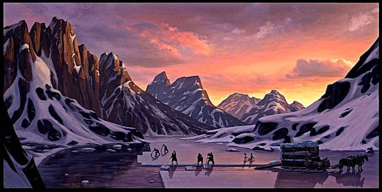 Film: Frozen ===== Scene: The Ice Harvesters