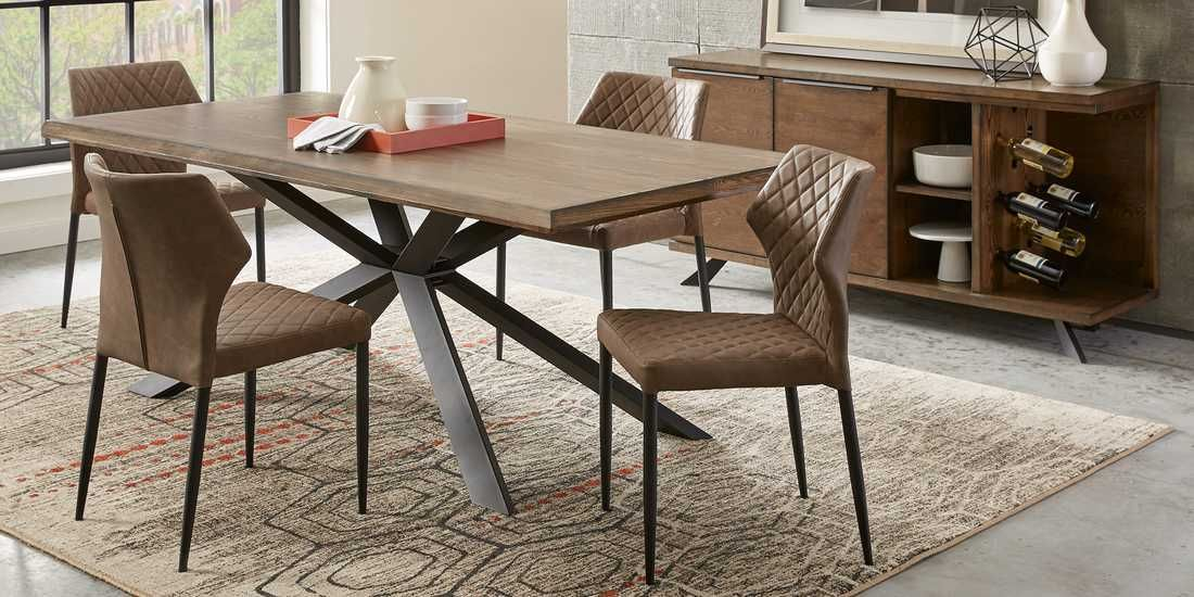 Alessi Brown 5 Pc Dining Room With Brown Chairs Rooms To Go Brown Dining Table Dining Brown Chair